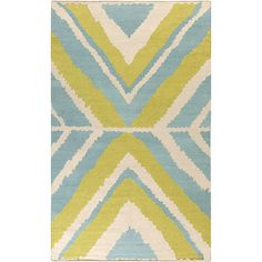 Alameda Ivory, Lime, & Teal Rug design by Beth Lacefield I Burke Decor