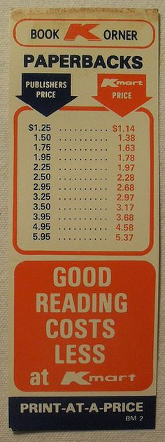 bfb367b3b4237 1970s KMart Vintage Department Discount Store Advertising Book Mark