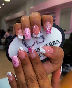Diamante Summer Nails, My Nails, Nail Designs, Nail Art, Beauty, Ideas, Long Nails, Designed Nails, Pretty Nails