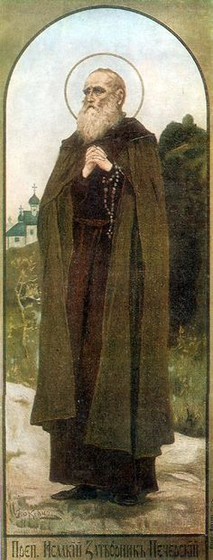 Saint Isaac was the first person in northern lands to live as a fool for Christ. His name in the world was Chern. Before becoming a monk, he was a rich merchant in the city of Toropets in the Pskov lands. Having distributed all his substance to the poor, he went to Kiev and received the monastic tonsure from St Anthony (July 10).    He led a very strict life of reclusion, eating only a single prosphora and a little water at the end of the day.