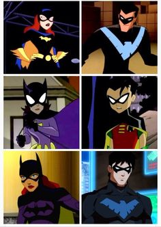 Dick Grayson/Barbara Gordon from 1997 to 2013 (The New Batman Adventures,The Batman,Young Justice Invasion) #DC