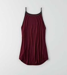 139e4a53d5024 AEO Soft  amp  Sexy High Neck Tank Tank Top Outfits