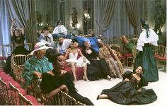 1977 Models at Chez Yves Saint Laurent, photo by Helmut Newton, French Vogue