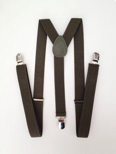 The Grunion Run : Groomsmen Shop - Army Green Suspenders ($14)