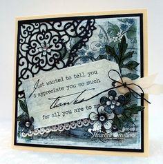 Heartfelt Creations | Decorative Blossom Card