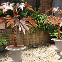 The Copper Sculptor - Specializing in Copper Tree Water Features Outdoor Wall Fountains, Garden Fountains, Water Fountains, Backyard Water Feature, Metal Yard Art, Wire Trees, Deco, Water Features, Garden Design