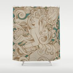 Mermaid Shower Curtain by mauromod - $68.00