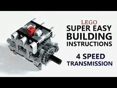 Super Easy Building Instructions - 4 Speed Gearbox - Lego Technic Mastery - YouTube