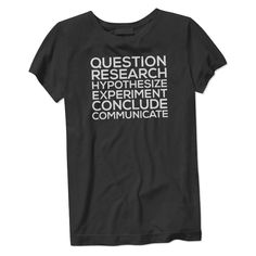 The Women's Science T-Shirt is made of 100% cotton jersey and the print is made with eco-friendly ink. Scientific findings have caused harrowing amounts of death and grief, but they have also saved mi