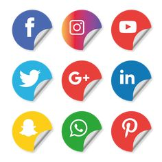 Social media icons set. facebook 832e0b3c755