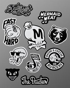 The Dudes – Mcbess – Sticker Set #logo #design