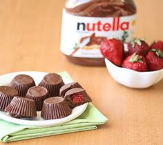 Strawberry Nutella Chocolate Cups! Great For Valentines Day #Food #Drink #Trusper #Tip