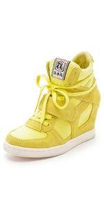 Ash Yellow Wedge Sneakers
