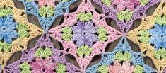 Wonderfully Pretty Little Wilde Flower Square - Knit And Crochet Daily