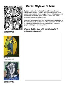 Cubism worksheet