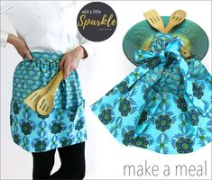 Festive Half Apron with Extra Large Pockets | Sew4Home
