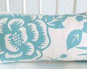 Decorative pillow cover - Lumbar pillow - 8x16 - White - Light Blue - Thomas Paul - Mini Lumbar - Ships Within 24 hrs