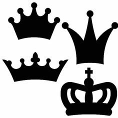 This crown die is fit for a king! These classic royalty shapes will be perfect…AccuCut Crowns - 2 x x 2 3 x 1 x 2 Más Silhouette Cameo, Crown Stencil, Crown Pattern, Crown Template, Diy And Crafts, Paper Crafts, Prince Party, String Art, Copic