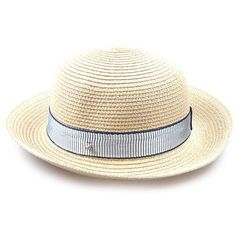 Striped Band Embellished Flanging Straw Bowler Hat ($8.75) ❤ liked on Polyvore featuring accessories, hats, gamiss, stripe hat, straw hat, bowler hat, band hats and derby hats
