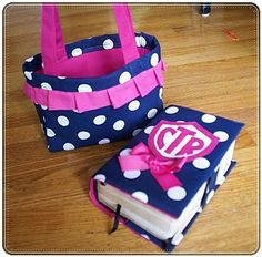 Bible cover and matching purse for little girl... How cute is that?!