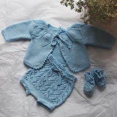 Conjunto bebé de algodón azul
