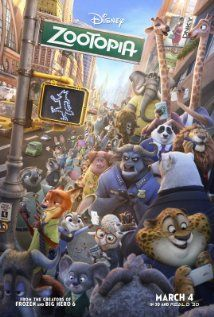 Zootopia (2016) PG  |  108 min  |  Animation, Action, Adventure  |  4 March 2016 (USA) ~~In a city of anthropomorphic animals, a fugitive con artist fox and a rookie bunny cop must work together to uncover a conspiracy. --  I got to say It's one of the best stories and cast for kids, adults and countries too to imagine & grasp those ideas....  I was happy to see it --