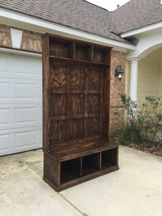 Custom Hall Tree- this Hall Tree comes with a shelf and dividers! We love how it turned out