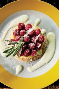 A raspberry tart at Fez Cafe in Jardin Des Biehn.