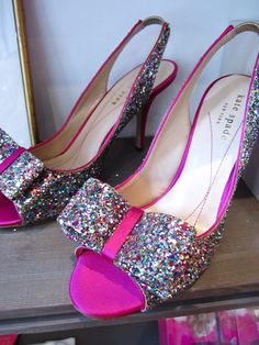 hey chels, remember when I said if I ever die I want to be buried in a sparkly pink pair of heels? FOUND THEM