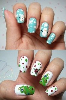 more christmas nails (: