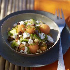 Recette salade de concombre, melon et feta - Cuisine / Madame Figaro