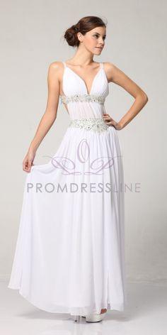Fabulous Rhinestone Banded Greek Style Prom Dress S3072 $173.00 on www.GirlsDressLine.Com