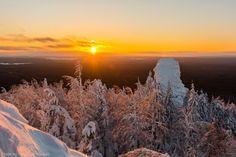 Закат на горе Колпаки, Пермский край. 20.01.2015. «Впечатления дороже знаний...»