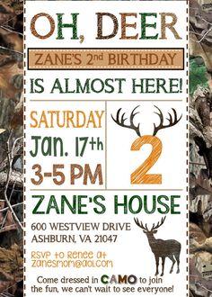 Deer Hunting Birthday Invitation // Hunting by MsThirdGrade