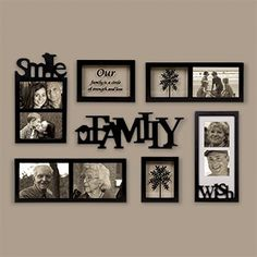 DIY Family Photos Display Ideias For Apartment Decor Family Pictures On Wall, Display Family Photos, Living Room Pictures, Family Picture Walls, Displaying Photos On Wall, Frames On Wall, Wall Collage, Wood Frames, Collage Ideas