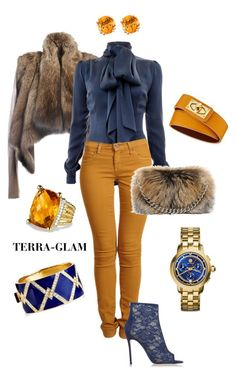 """Let's Go Have Coffee"" by terra-glam ❤ liked on Polyvore featuring LISKA, Safiyaa, Second, Gianvito Rossi, Alexander McQueen, Givenchy, David Yurman, Ciner and Tory Burch"