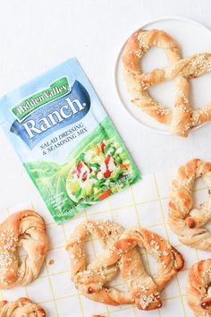 Recipe for (Easy) Homemade Ranch Pretzels and Sriracha Marinara