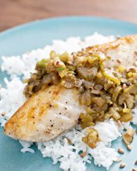 #Halibut with Brown Butter, Lemon and Aged Fish Sauce #recipe