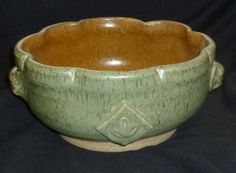 Handmade Pottery Bowl Scalloped Edge with by PotteryLaceNautical, $45.00