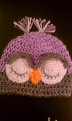 sleepy baby owl hat