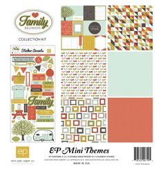 12 x 12 Double Sided Paper - Scrapbook kit by Echo Park from the Family Reunion Collection. 12x12 Scrapbook, Scrapbook Supplies, Scrapbooking Layouts, Echo Park Paper, Paper Companies, Creative Memories, Fancy Pants, Kit, Papers Co