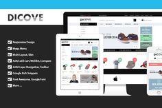 Dicove - Fashion Responsive Magento. Magento Themes. $79.00