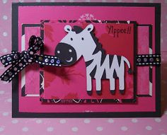 Zebra Card Made With Create A Critter