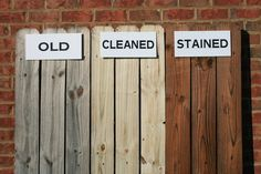 Stain ing wood fence | new fence or deck the best time to stain your wooden fence or deck is ...