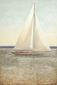 Serene Sail Coastal Decor Artwork