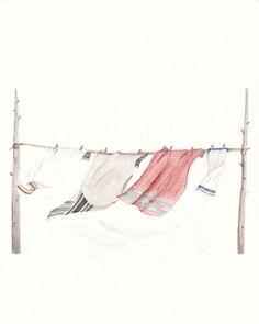 ~ Finding Way - Sarah Burwash ~ Laundry Art, Laundry Room, Clothes Lines, Inspirational Artwork, Silhouette, Line Drawing, Art Forms, Illustration Art, Sketches