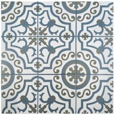 Merola Tile Hidraulico Ducados in. Porcelain Floor and Wall Tile sq. / case) at The Home Depot - Mobile Wall And Floor Tiles, Wall Tiles, Spanish Design, Shower Floor, Wall Patterns, Stone Tiles, Muted Colors, Colour Gray, Bathroom Flooring