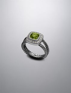 birthday present? yes please! finding a good looking ring in peridot isn't easy.