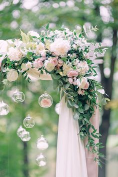 Can potentially be brought inside along with crate arrangement for sweetheart table? Wedding Ceremony Ideas, Outdoor Wedding Decorations, Ceremony Arch, Flower Decorations, Fall Wedding, Diy Wedding, Rustic Wedding, Wedding Flowers, Dream Wedding