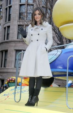 Lucy Hale attending Macy's Thanksgiving Day Parade.